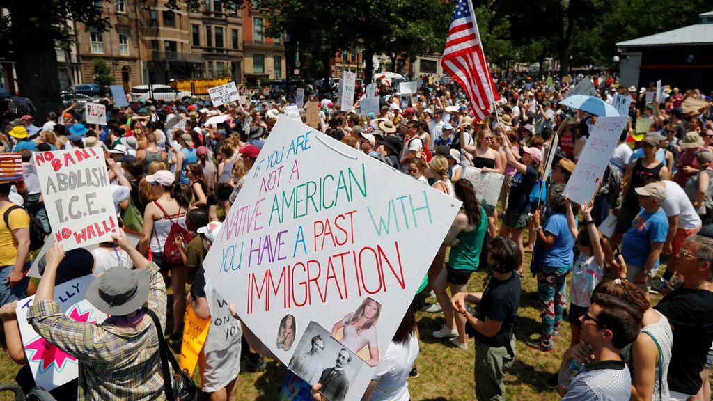 Manifestaciones en todo EEUU para protestar contra la separación de menores inmigrantes de sus familias