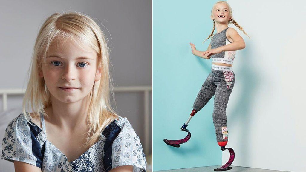 Con siete años, Daisy-May no deja que su discapacidad ponga límite a sus sueños