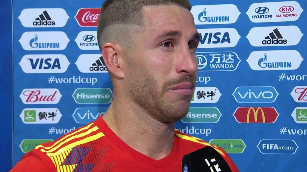 """Ramos, entre lágrimas: """"Es un golpe muy duro, teníamos ganas de reivindicarnos y no ha podido ser"""""""