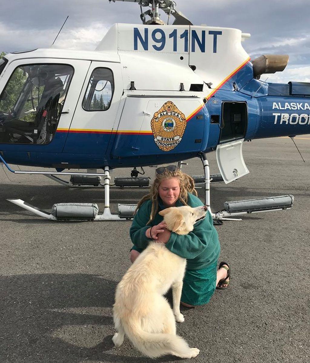 Un husky la salva la vida tras caerse desde una altura de 200 metros en Alaska