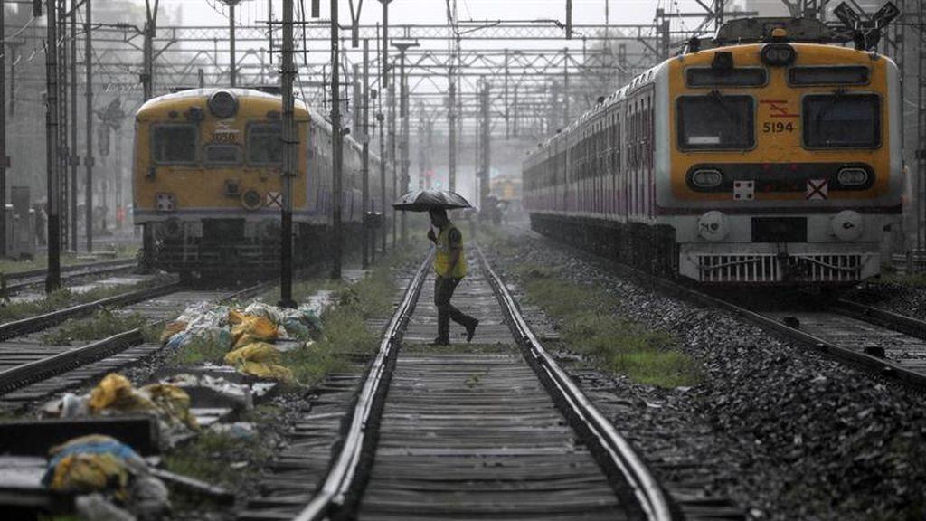 Los restos de la estación de Bombay