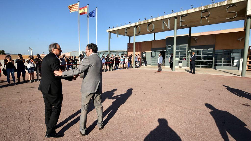 Torra visita a Junqueras, Romeva, Sànchez y Cuixart en la cárcel barcelonesa de Lledoners