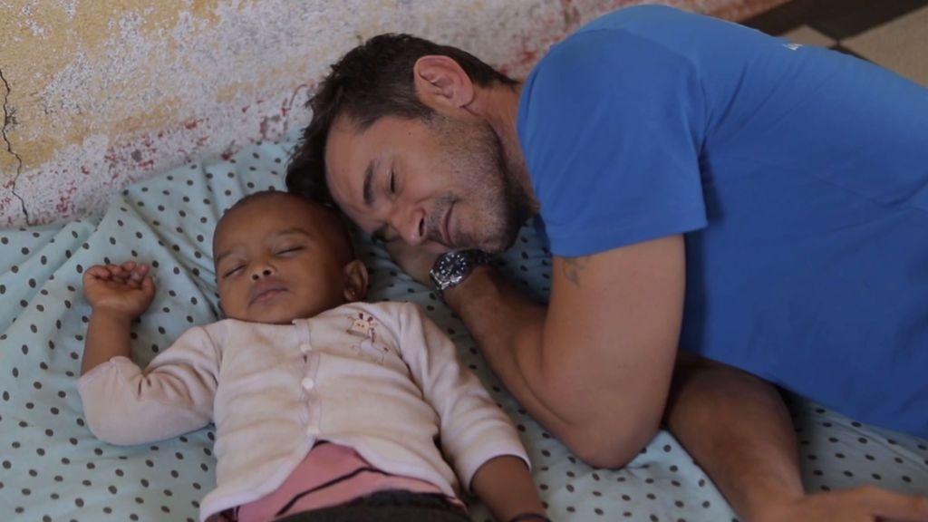 La hora de la siesta para los bebés refugiados