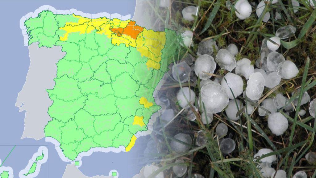 Ojo al granizo en el nordeste: aviso naranja en tres comunidades este miércoles