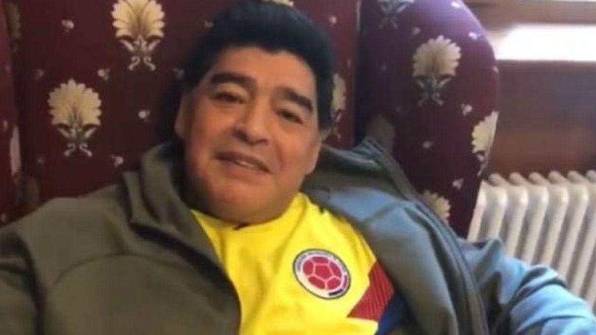 La reacción desmedida de Maradona ante el gol de Colombia en el último minuto de su partido contra Inglaterra