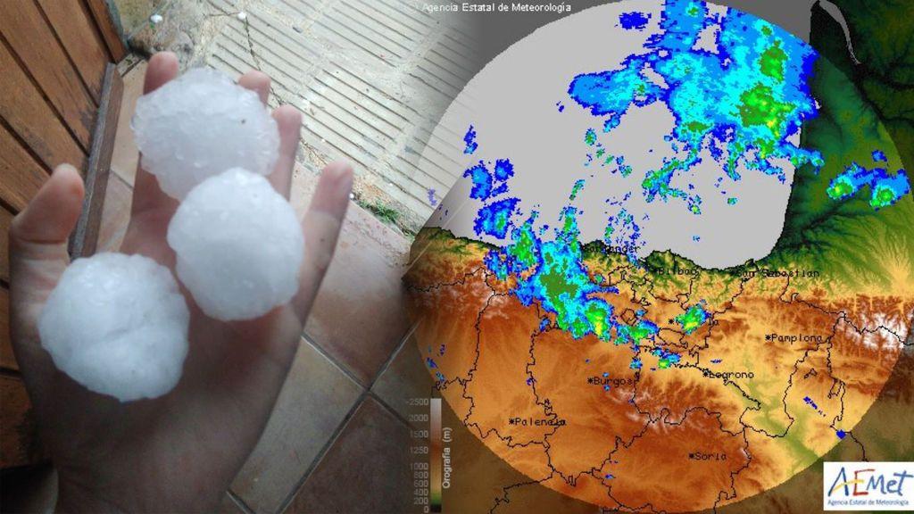 Granizo del tamaño de un puño y colapsos: las tormentas se ceban con todo el norte