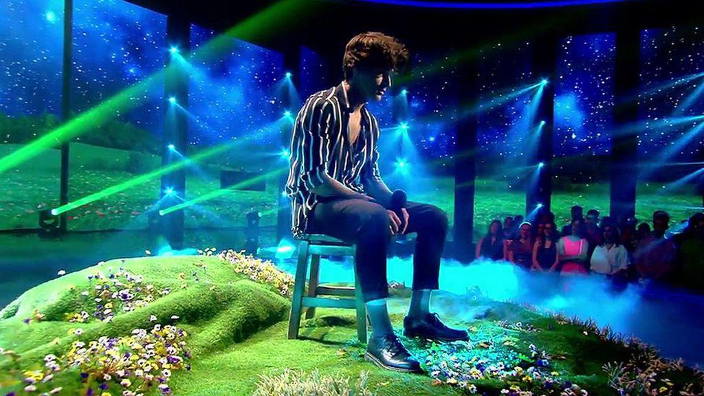 Pol Granch llena de emoción la final de 'Factor X' con 'El sitio de mi recreo'