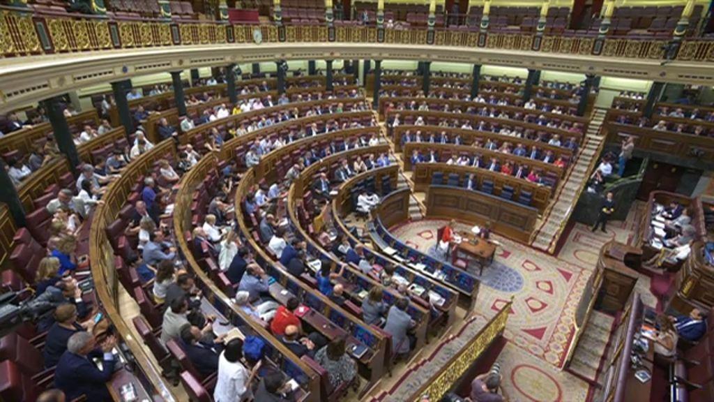Pleno del Congreso del miércoles 4 de julio de 2018, donde se convalidó el decreto ley del Gobierno para renovar de forma urgente el Consejo de Administración de RTVE.