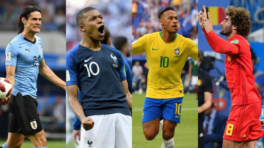 Uruguay-Francia a las 16.00h en Cuatro y Brasil-Bélgica a las 20.00h en Telecinco, este viernes