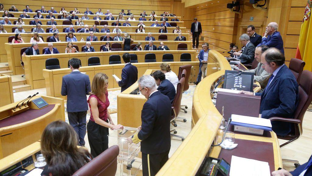 Pleno del Senado celebrado el jueves 5 de julio de 2018, donde se ha votado en segunda vuelta la renovación del consejo de administración de RTVE.