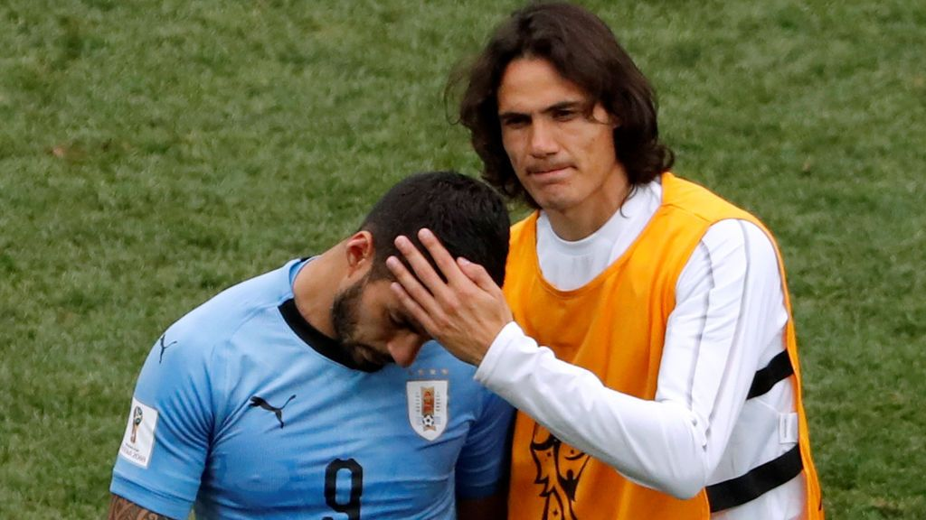 Los hijos de Luis Suárez lloran desconsolados tras la eliminación de Uruguay del Mundiaal