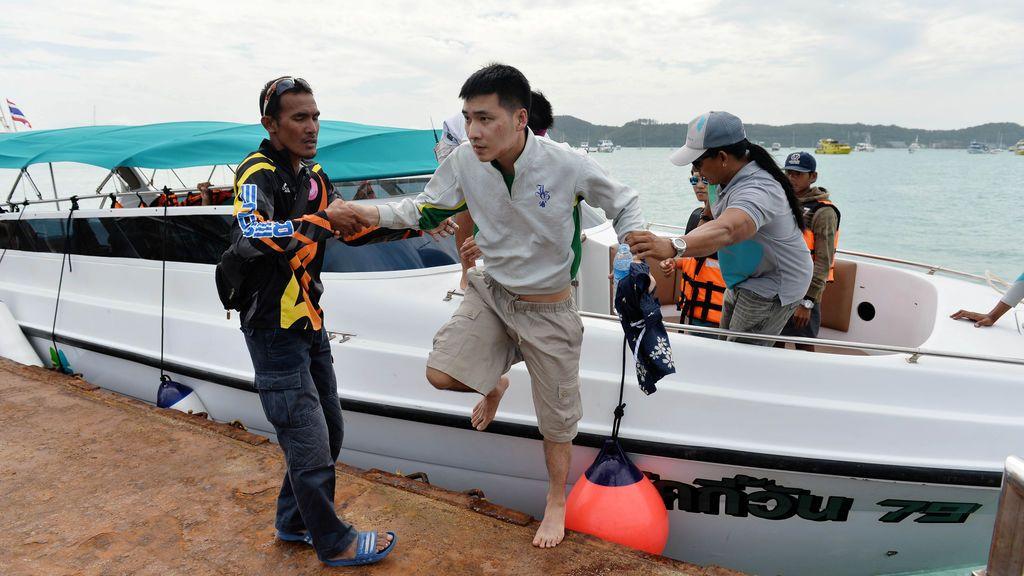 Rescate en la isla tailandesa de Phuket