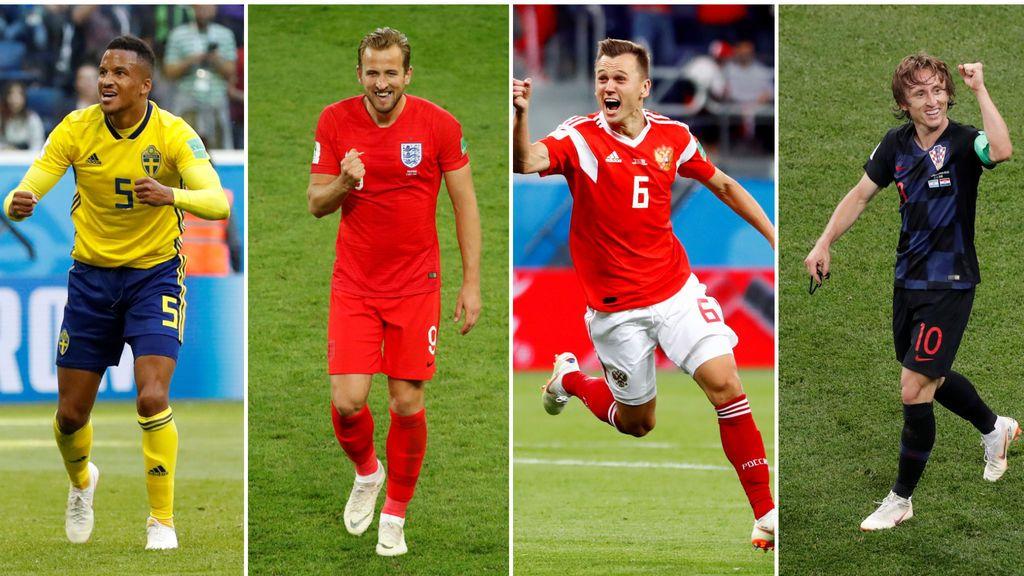 Suecia - Inglaterra a las 16.00h en Cuatro y Rusia - Croacia a las 20.00h en Telecinco, este sábado