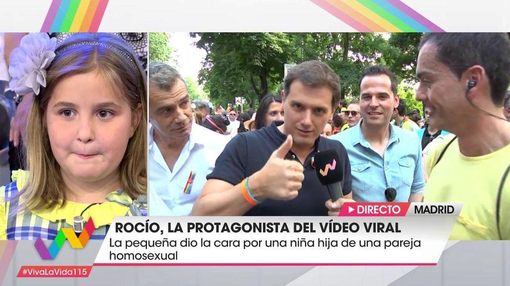 """Albert Rivera, de Rocío: """"Tengo una hija de siete años y es importante este tipo de ejemplos"""""""