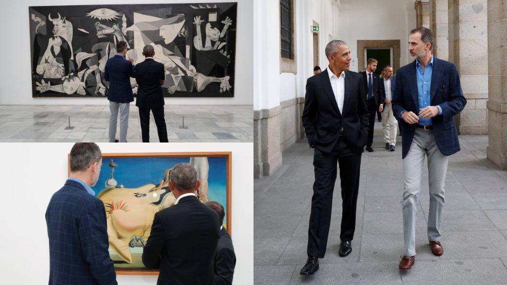 El Rey y Obama, juntos frente al Guernica