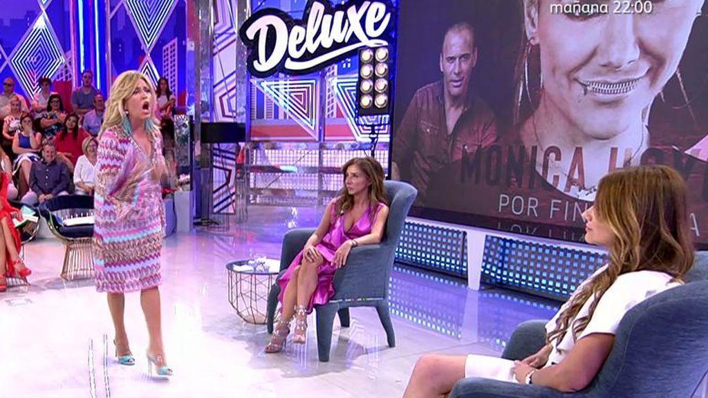 """Monumental bronca entre Lydia Lozano y Mónica Hoyos: """"No vuelvas a nombrar a Charly"""""""