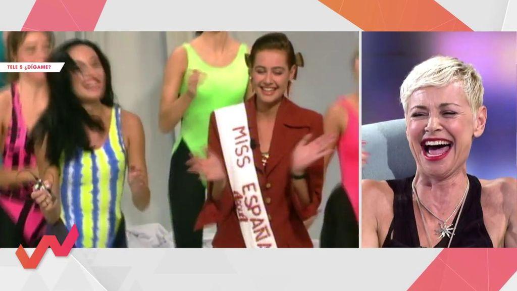 """Esther Arroyo se """"muere de la risa"""" viendo su primera vez en Telecinco como Miss España"""