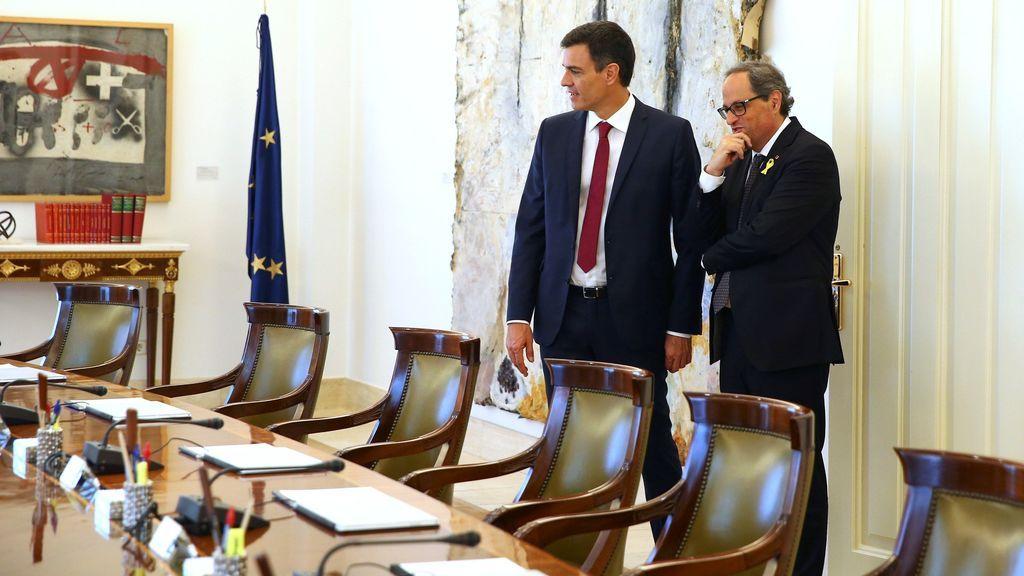 """Torra traslada a Sánchez que """"no renuncian a ninguna de las fórmulas para alcanzar la independencia"""""""