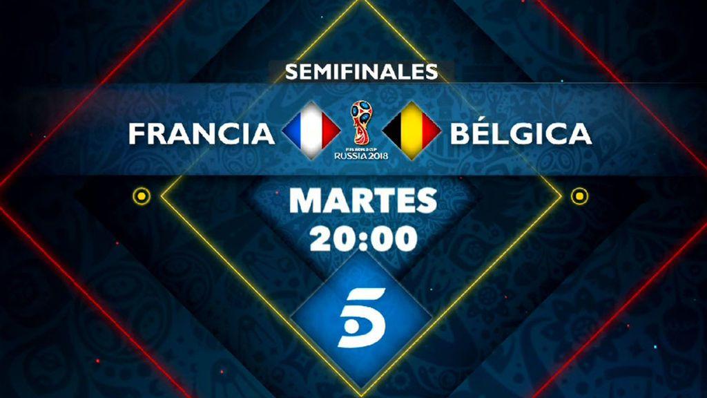 La semifinal Francia - Bélgica, este martes a las 20.00 horas en Telecinco