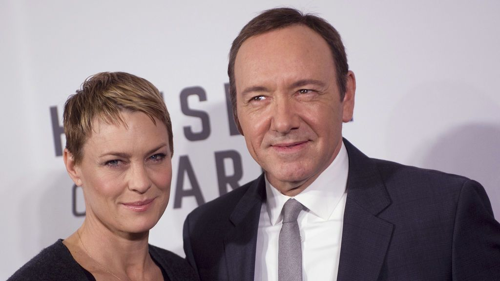 Robin Wright y Kevin Spacey en el estreno de 'House of Cards' en 2013.