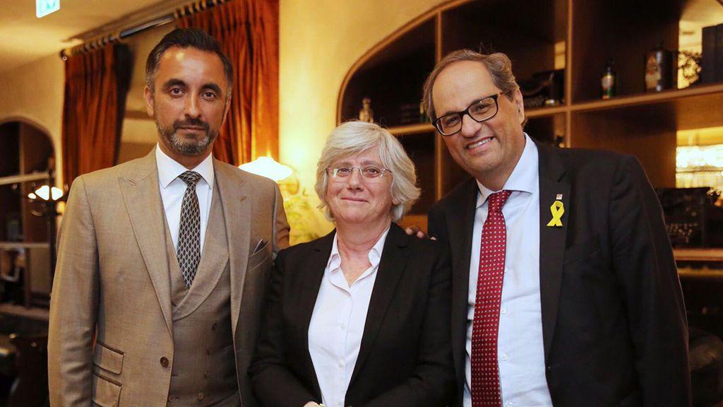 Quim Torra se reúne con la exconsejera Clara Ponsatí y su abogado en Escocia