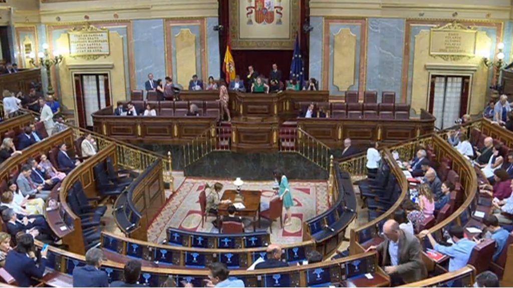 Pleno del Congreso de los Diputados, el martes 10 de julio de 2018.