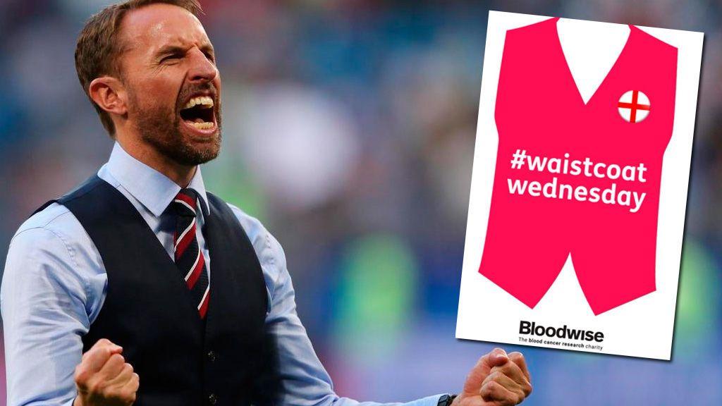 Hoy toda Inglaterra se pondrá el chaleco de Southgate por una buena causa: vencer... ¡al cáncer!