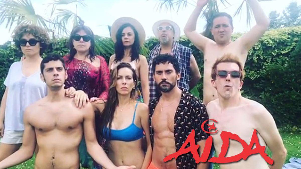 Paco León, Eduardo Casanova y Miren Ibargueren: Los domingos de paella y piscina de los protagonistas de 'Aída'
