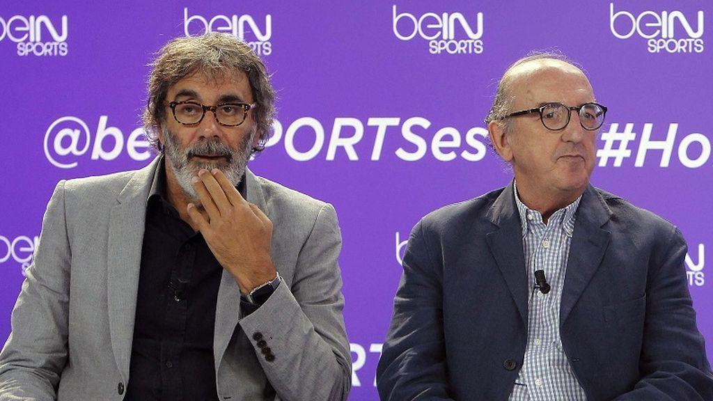 Tatxo Benet y Jaume Roures, en la presentación del canal de televisión Bein Sports el 9 de septiembre de 2015.