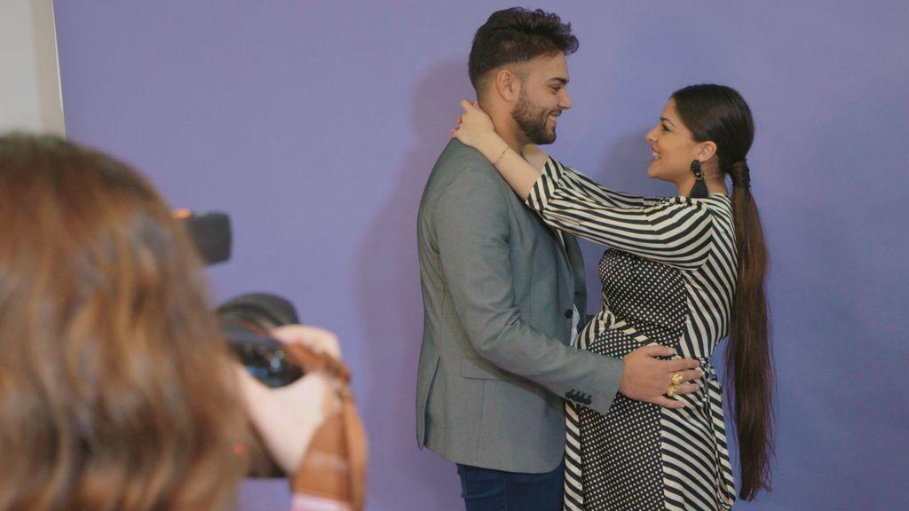 La Rebe y su novio, José, en el programa final de 'El embarazo de la Rebe'.