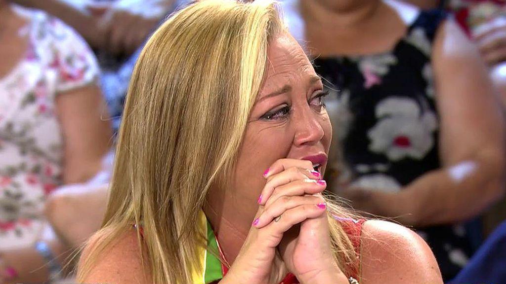"""Belén Esteban no puede contener las lágrimas: """"Lo de Terelu me afectó un montón, la veo y me emociono"""""""