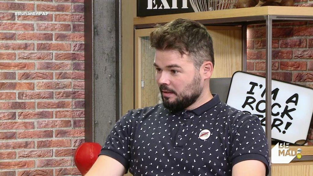 """Rufián, sobre la extradición de Puigdemont: """"Hay cinco países en la causa y sólo en España hay presos políticos"""""""