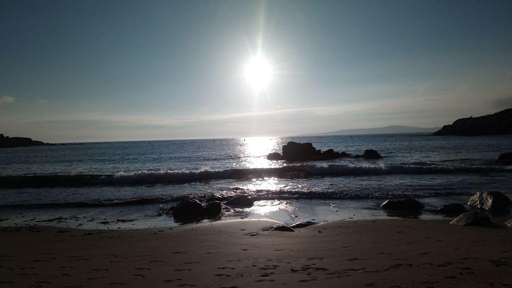 Esther Gómez Monjas en la playa de la Lanzada, Pontevedra