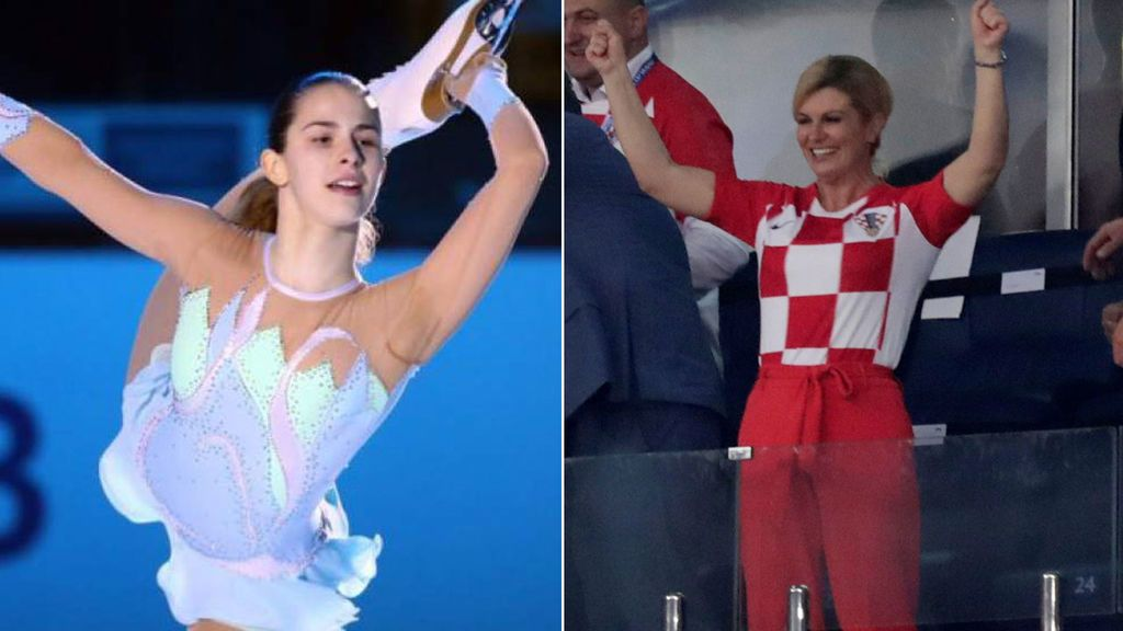 ¡La fan número uno de Croacia en la final del Mundial! Hija de la presidenta y promesa del patinaje sobre hielo