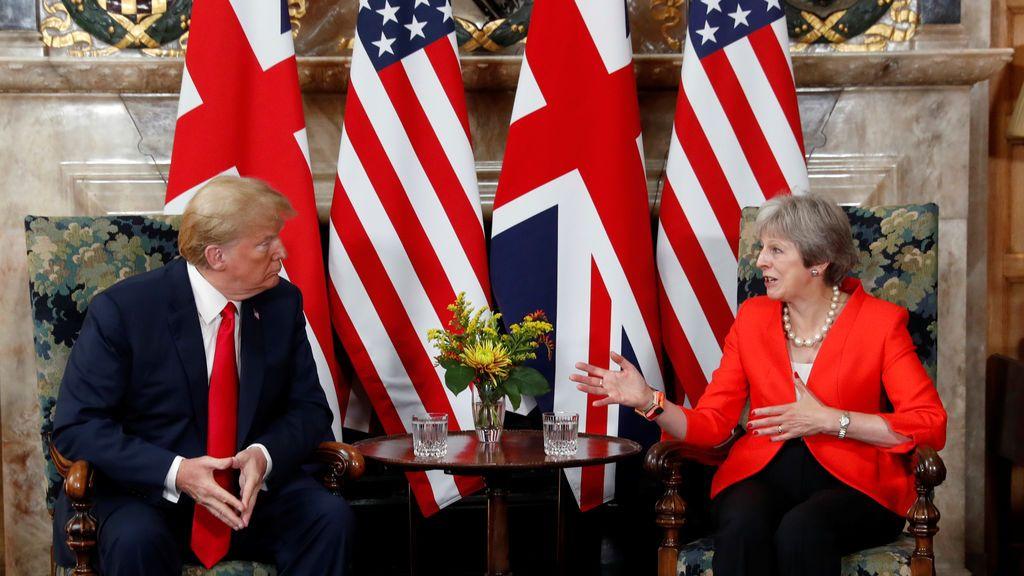 May precisa que Trump criticó su estrategia del 'Brexit' antes de conocer su nuevo plan