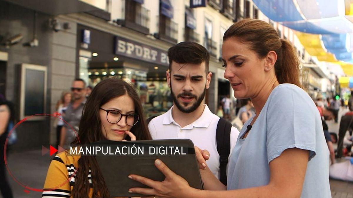 La reportera Verónica Dulanto investiga la manipulación digital en el programa 'En el punto de mira', de Cuatro.