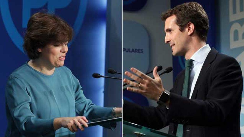 Los candidatos a liderar el PP, unidos para honrar al primer presidente de Galicia