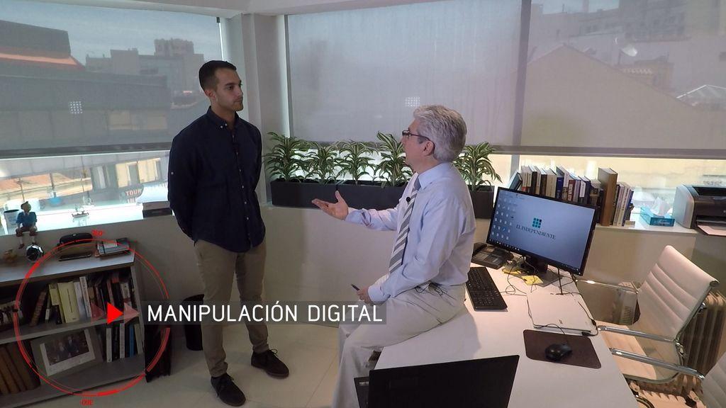 'En el punto de mira', manipulación digital