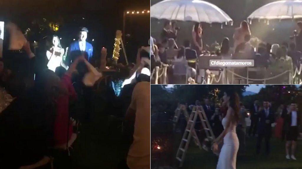 La llegada de la novia, la ceremonia, el discurso de Laura... La boda de Diego Matamoros, en vídeo