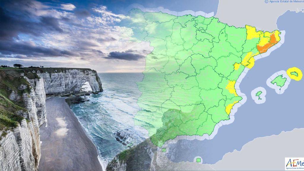 Lunes complicado: avisos naranjas y amarillos por tormentas, lluvias, calor, viento y rissagas