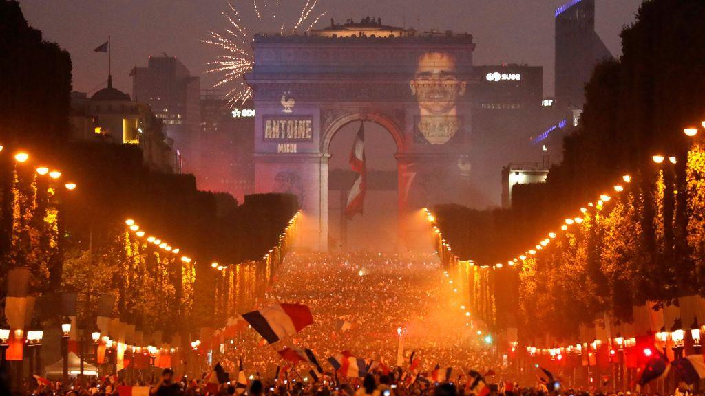 Francia celebra su título mundial