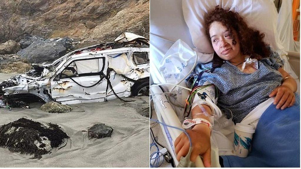 Rescatan a una joven siete días después de caer por un acantilado en California.
