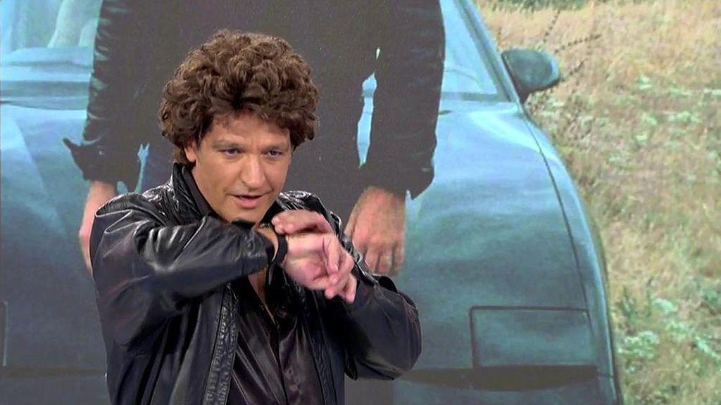 Gustavo González se convierte en el dueño del coche fantástico y deja 'fascinados' a sus compañeros