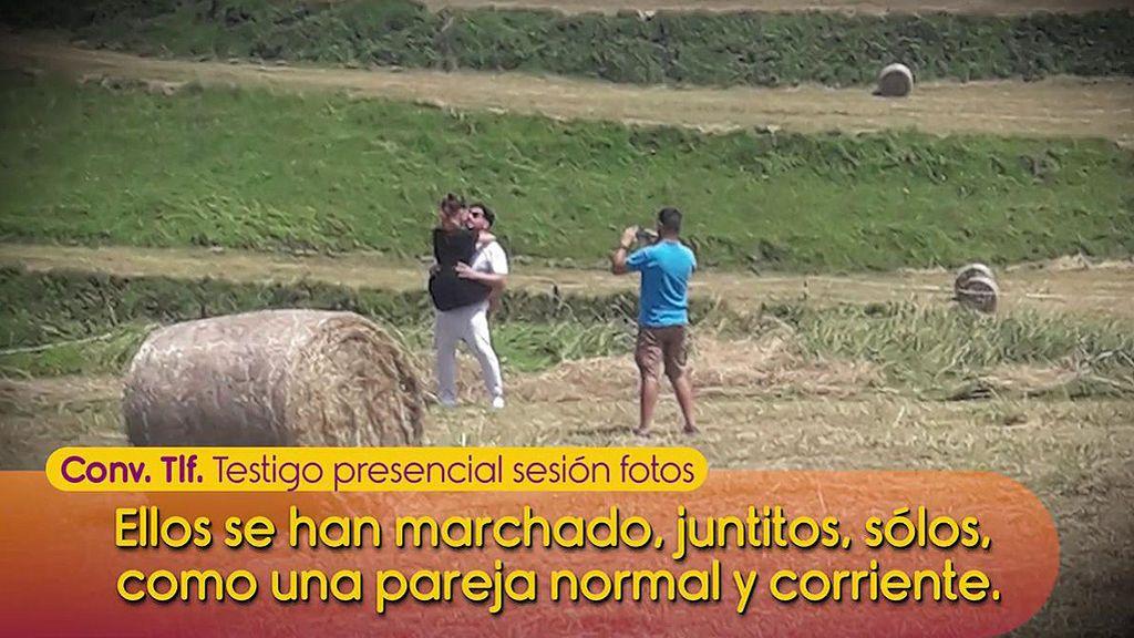 ¡Pillados! Las fotos de Bustamante y Yana en una playa de Cantabria