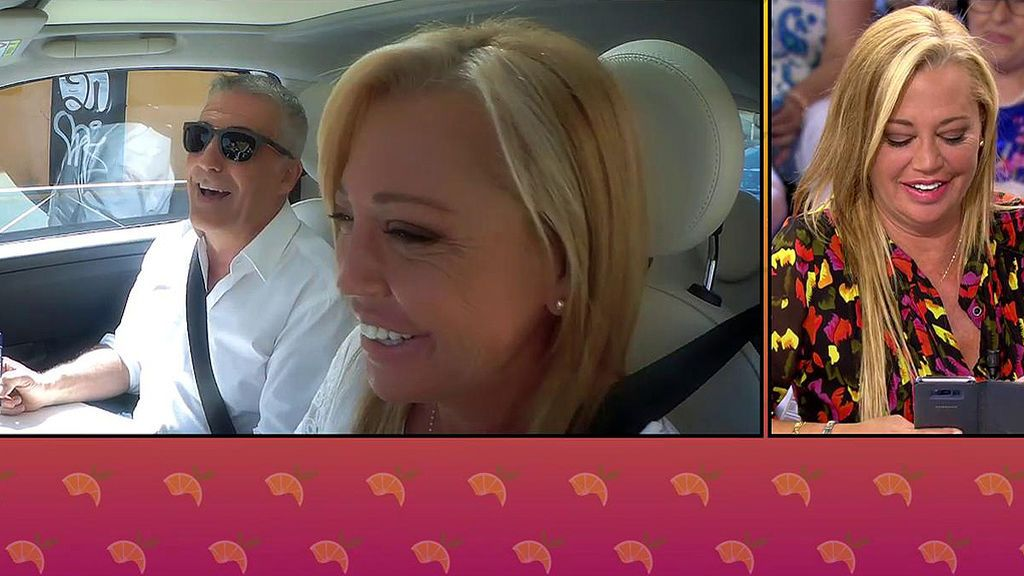 """Belén Esteban entrevista 'a bordo' a David Cantero: """"Me dijiste que soy mejor que los Cabify, gracias"""""""
