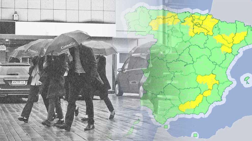 18 provincias, en riesgo hasta el viernes por tormentas, lluvias, calor y 'meteotsunamis'