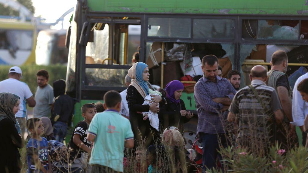Evacuación masiva en Siria