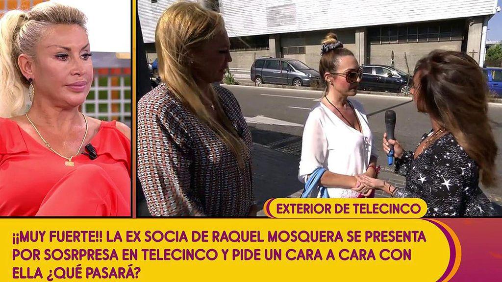 ¡Novelón en directo! La no-socia de Raquel Mosquera se presenta en Telecinco sin previo aviso