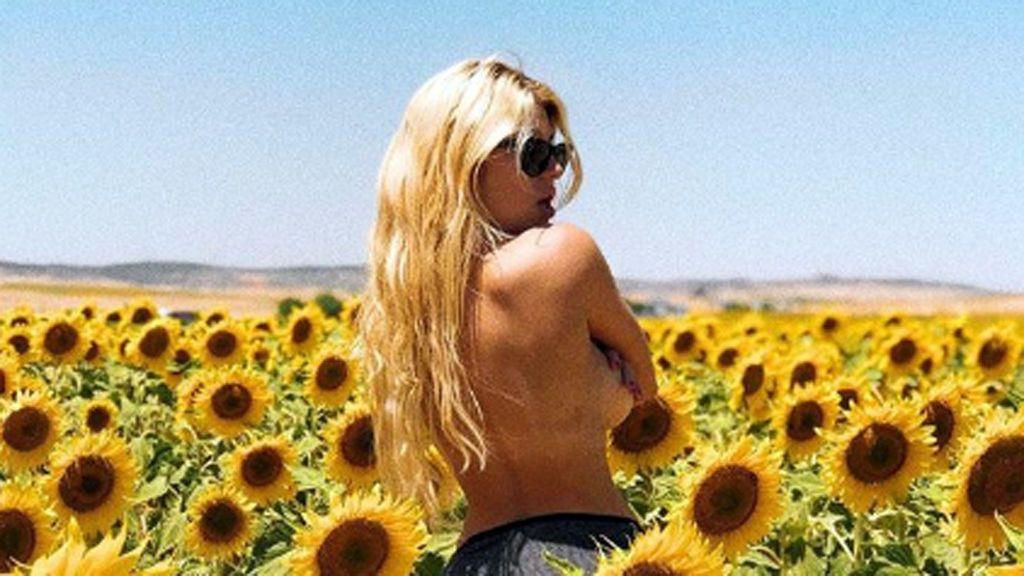 Todo por la foto: La odisea del novio de Anita Matamoros para que ella pose en un campo de girasoles