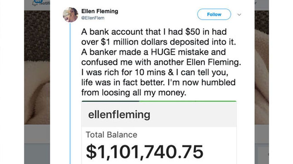 Devuelve 1 millón de dólares que el  banco le ingresó por error